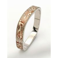 Mokume Gane round rectangle shape bangle