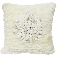 ANGEL HAIR WITH CIRCLE PEBBLE CUSHION-NATURAL