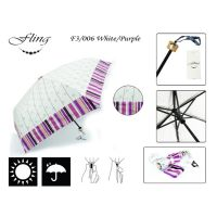 Fold Umbrella F3/006 - White/Purple