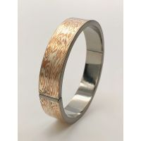 Mokume Gane round shape bangle