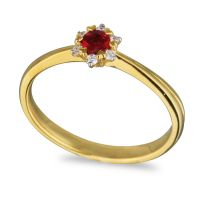 Burmese Ruby and Diamond Ring