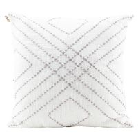 DIMOND STITCHED CUSHION-GREY
